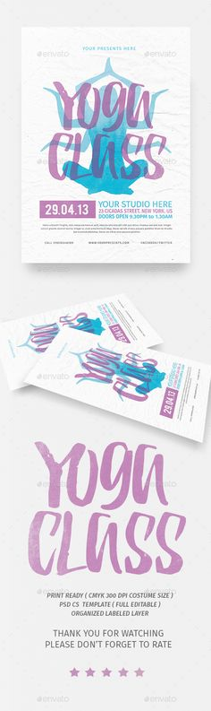 PSD Yoga Class Flyer  Template • Only available here ➝ http://graphicriver.net/item/yoga-class-flyer/16479987?ref=pxcr