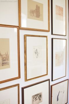 Atchison Home | Framed Drawings