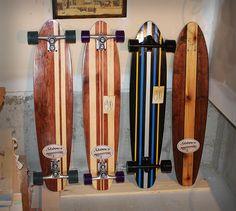 "Skinner Custom Longboards - 39"" Cruisers - www.skinnercustomlongboards.com"