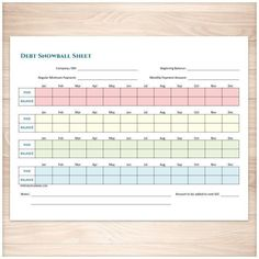 A printable debt snowball sheet to help you pay down your debt with a fast and organized repayment plan. Do you want to be debt free? Using the Debt Snowball method can help you to stay committed to paying off your debts, doing it in an organized way, and paying everything down faster than paying just your minimum payments. This bundle includes a bonus Debt Payoff Plan sheet. payoff debt tips, debt payoff tips #debt #debtfreedom