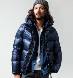 Down jacket for men / ShopStyle(ショップスタイル): ナノ・ユニバース 西川ダウン エアーナイロンJKT