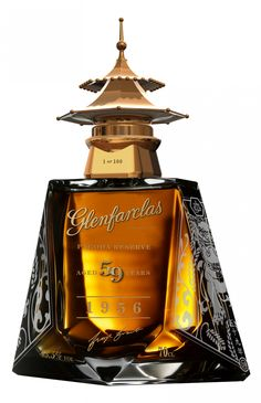 Limited Edition Glenfarclas Pagoda Ruby Reserve is the Distillery's Oldest Whisky Alcohol Bottles, Liquor Bottles, Drink Bottles, Perfume Bottles, Cigars And Whiskey, Whiskey Drinks, Scotch Whiskey, Bourbon, Spiritus