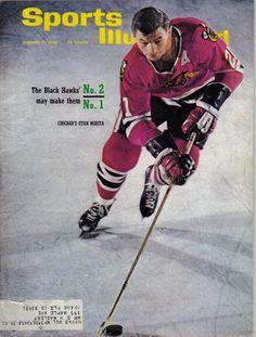 1966 (1/31) Sports Illustrated Magazine Hockey,Stan Mikita,Chicago Blackhawks~Gd