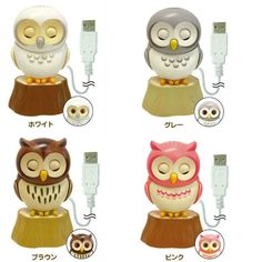 Here's a cute little owl to keep you company as you work on your computer! Available in four colors––white, gray, brown and pink––each owl comes with a handy clip to attach it to the top of your laptop, and a small tree trunk for it to perch on if you prefer having it beside you! By inserting the USB cord, the owl will wake up and the fun begins! You can choose between three different settings: Ac...