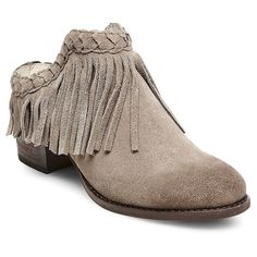 Women's Soho Cobbler Chrysnth Braided Fringe Leather Mules - Taupe (Brown) 7.5