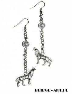 Kolczyki Wilki. Zmierzch. Wilk #earrings #kolczyki