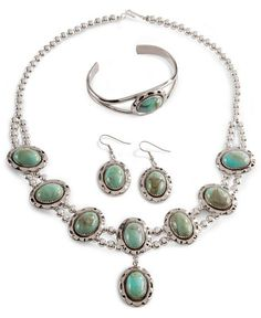 Silver Turquoise Jewelry Set