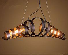 Retro Industry Design Pendelleuchte im Loft-Style,kronleuchter,2XE27 Mehr