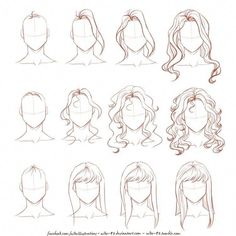Manga Drawing Techniques How I draw long hair by on DeviantArt: - drawing techniques Amazing Drawing Hairstyles For Characters Ideas Hair Reference, Art Reference Poses, Drawing Reference, Anatomy Reference, Female Reference, Drawing Hair Tutorial, Drawing Tips, Drawing Ideas, Drawing Tutorials