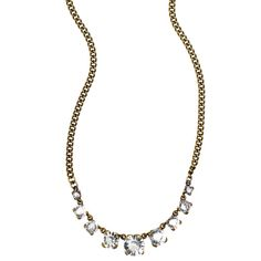 Round Crystal Collar Necklace - $42 Find this necklace at www.chloeandisabel.com/boutique/ashleymoore