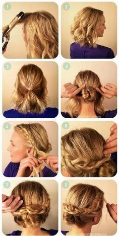 Penteado em cabelo curto pra você mesma fazer!