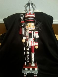 "Holly Kurt Adler Christmas Nutcracker Hollywood 20"" red white black silver #nutcracker #adler #hollywood"