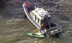NEW YORK... BREAKING NEWS: Ten injured and one in serious condition after ferry plows into kayakers on New York's Hudson   Daily Mail Online