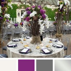 Ivory purple pewter gray