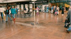 Churchill square after the hurricane, 1987