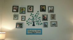 Our family tree photo collage in our living room!