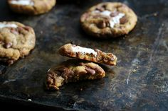 Culinary Couture: Brown Butter Pumpkin Nutella Chip S'mores Cookies