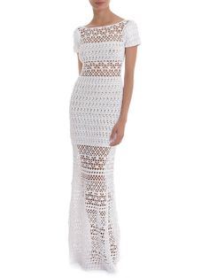 Irish lace, crochet, crochet patterns, clothing and decorations for the house, crocheted. Prom Dress Shopping, Online Dress Shopping, Irish Crochet, Crochet Lace, Knit Dress, Dress Skirt, Crochet Wedding Dresses, Crochet Dresses, Prom Dresses