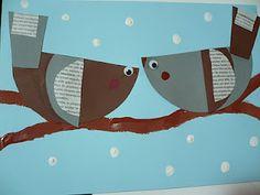 Maro's kindergarten: Winter birds craft