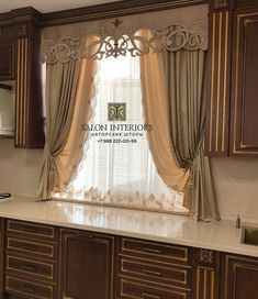 There are different sorts of curtains with different themes, as an example in this image you can make your favorite cooking area curtains window curtains curtains curtains inspirations curtains ideas Kitchen Window Dressing, Kitchen Window Blinds, Kitchen Window Coverings, Blinds For Windows, Kitchen Curtains, Curtain Styles, Curtain Designs, Rideaux Du Bow Window, Home Design