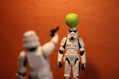 Tiny Stormtroopers, if I were a stormtrooper, I would NEVER let my buddy do this, you seen their aim?