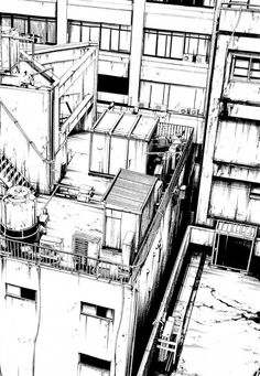 very beautiful manga landscapes - Cityscape Drawing, City Drawing, Sketch Painting, Comic Book Background, Background Drawing, Art Postal, City Sketch, Building Drawing, Perspective Drawing