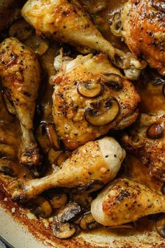 NYT Cooking: This succulent chicken recipe came to The Times from Amanda Hesser in but it's as timeless as they come. Here, riesling lifts a rich cream sauce, while mushrooms add a distinct earthiness. Creamed Mushrooms, Stuffed Mushrooms, Stuffed Peppers, Winner Winner Chicken Dinner, Mushroom Chicken, Chanterelle Mushroom Recipes, Chicken Seasoning, Canned Chicken, Cream Recipes