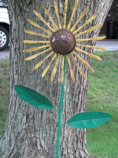 Sunflower from butter knives:)