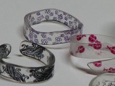 Shrink Plastic Jewelry Ideas | Ink Stains: Stamped Shrink Plastic / Shrinky Dink Rings