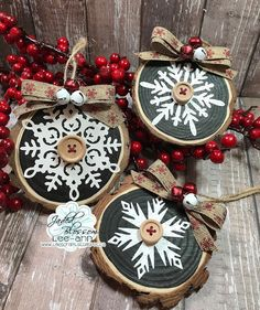 Snappy Scraps: Jaded Blossom Christmas Ornaments Christmas Signs, Christmas Wreaths, Christmas Cards, Christmas Ornaments, Black Chalkboard Paint, Label Shapes, Fall Banner, Holiday Crafts, Holiday Decor