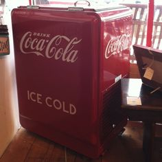 I've always wanted one of these. Vintage Coke cooler.
