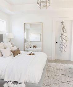 Room Ideas Bedroom, Home Decor Bedroom, Bright Bedroom Ideas, Simple Bedroom Decor, Neutral Bedroom Decor, Ikea Bedroom, Bedroom Designs, Classy Bedroom Ideas, Stylish Bedroom