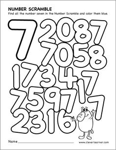 scrambled Numbers coloring worksheet MATHEMATIC HISTORY Mathematics is among the oldest sciences in human history. Numbers For Kids, Numbers Preschool, Math Numbers, Preschool Printables, Preschool Math, Math Activities, Maths, Number Worksheets Kindergarten, Free Worksheets