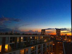 Dusk #sundown #dusk #sky #sun #horizon #urban #london #southlondon #southoftheriver #landscape by jamesfarris