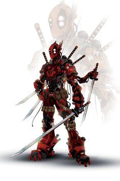 Robo Deadpool by ChasingArtwork