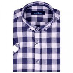 Lacivert kısa kollu erkek gömlek