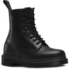 Dr. Martens Leather 1460 Mono Boots (€115) ❤ liked on Polyvore featuring men's fashion, men's shoes, men's boots, shoes, boots, men's, black, men's slip resistant shoes, mens black leather shoes and mens leather boots