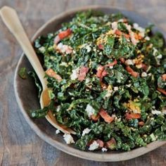 Shredded Kale Salad with Pancetta and Hard-Cooked Egg