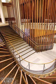 Interior Design Magazine: The Conrad New York Hotel has a switchback granite…