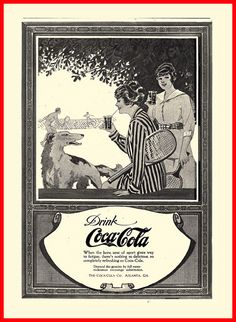When the keen zest of sport gives way to fatigue...drink Coca-Cola! #vintage #food #drinks #Edwardian #ads