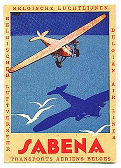 https://flic.kr/p/qgpfw   Untitled   Sabena aviation luggage label