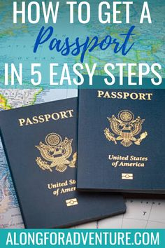 How to get your first US Passport! Follow these 5 easy steps to get a passport in the US.