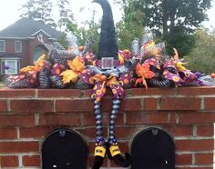 Witch themed Halloween mailbox idea.  See more Halloween party invitations and…