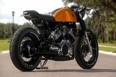 Yamaha Virago Cafe Racer › Yamaha XV750 Cafe Racer V-twin cruiser motorcycle