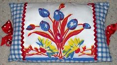old tablecloth pillows