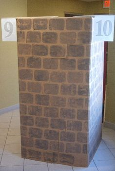cardboard appliance box crafts - VBS towers