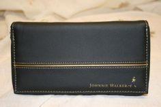 NEW Johnnie Walker Bag Wallet Organizer Zip Around Flux Leather Black & Gold