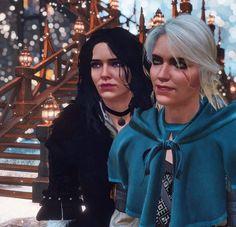 The Witcher Game, Yennefer Of Vengerberg, Korrasami, Ciri, Heart, Gold, Hearts, Yellow