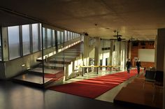 OMA renovates the kunsthal in rotterdam, the netherlands Rotterdam Architecture, Minimal Architecture, Amazing Architecture, Interior Architecture, Interior And Exterior, Halle, Reception Entrance, Rem Koolhaas, Futuristic City