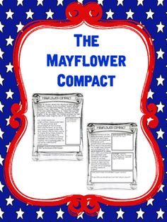 This product gives students background information on the Mayflower Compact and asks questions. Includes:Document with questions for comprehensionColor and BW Versions Key included. Fifth Grade, Grade 3, Mayflower Compact, Middle School History, Reading Comprehension Worksheets, 5th Grade Reading, Background Information, Teaching Social Studies, Cycle 3